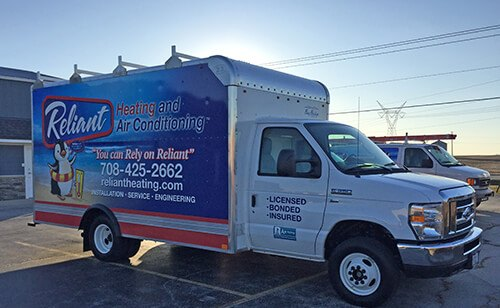 Reliant Heating & Air Conditioning Truck